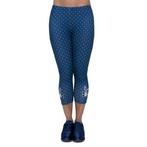 Freeride Deer Printing Mid-Calf 3/4 Women Capri Leggings