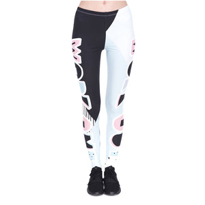Patches Printing High Waist Women Leggings