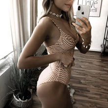 Load image into Gallery viewer, Snake Belt One Piece Padded Swimsuit