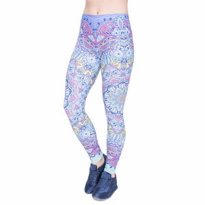Mandala Fantasy Printing High Waist Women Leggings