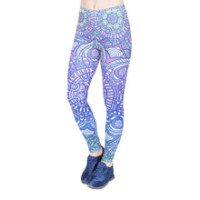 Load image into Gallery viewer, Mandala Blue Ombre Printing High Waist Women Leggings