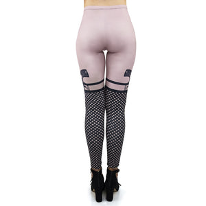 Bad Girl Kiss Nude Printing High Waist Women Leggings