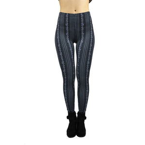 Blue High Printing High Waist Women Leggings