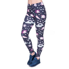 Load image into Gallery viewer, Unicorns Navy Printing High Waist Women Leggings