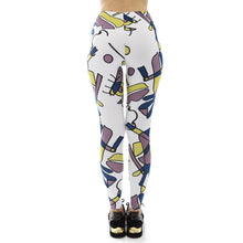 Load image into Gallery viewer, White Funky Face Printing High Waist Women Leggings