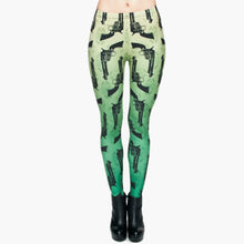 Load image into Gallery viewer, Guns Green 3D Printing High Waist Women Leggings