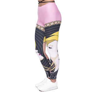 Fairy Tale World Printing High Waist Women Leggings