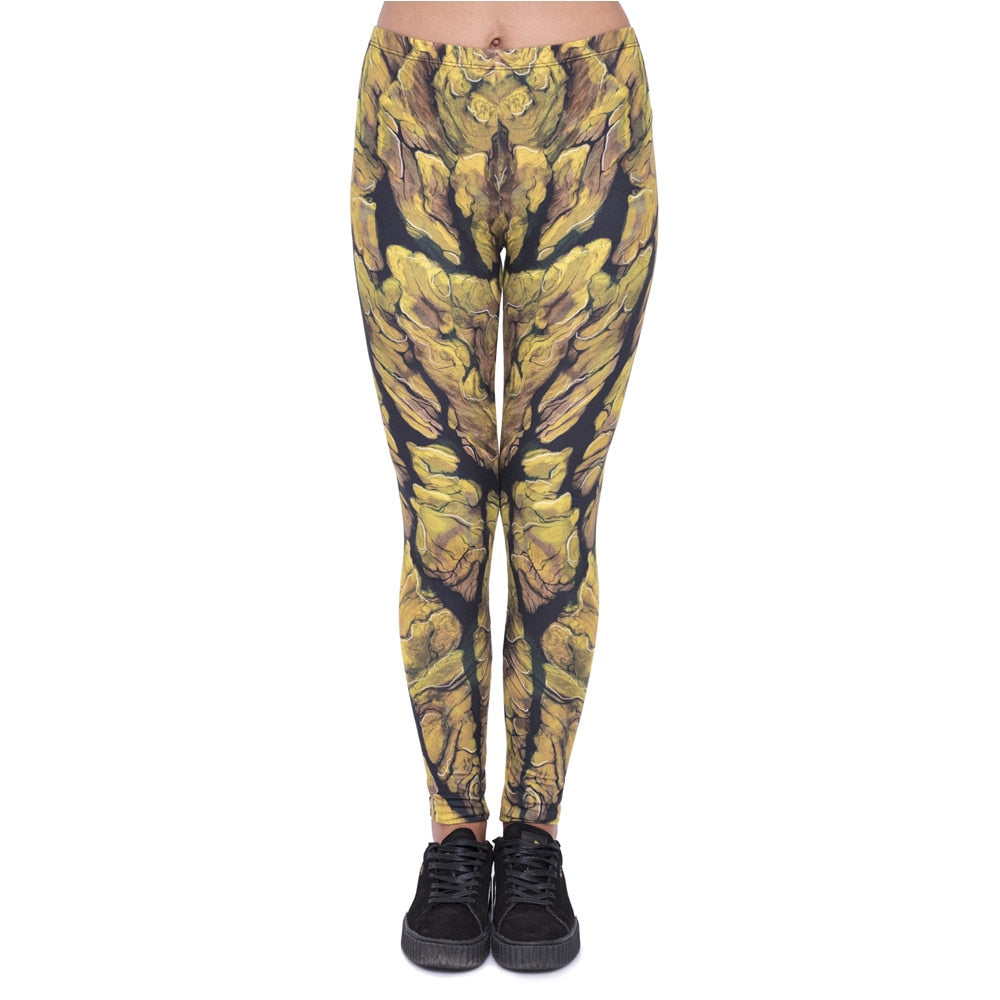 Groot Printing High Waist Women Leggings