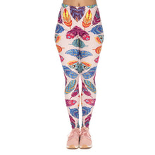 Load image into Gallery viewer, Feathers Vibes Printing High Waist Women Leggings