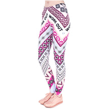 Load image into Gallery viewer, Aztec Pink Printing High Waist Women Leggings