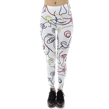Load image into Gallery viewer, Simple White Line Printing High Waist Women Leggings