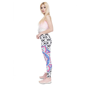 Mandala Aztec Printing High Waist Women Leggings