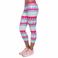 Load image into Gallery viewer, Aztec Green Printing Mid-Calf 3/4 Women Capri Leggings