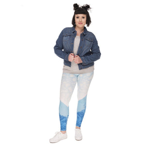 Iceberg Printing Plus Size Women Leggings