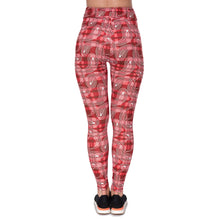 Load image into Gallery viewer, Tartan Banded Printing High Waist Women Leggings