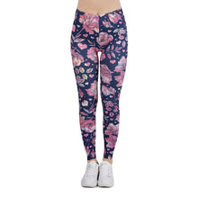 Load image into Gallery viewer, Floral Love Printing High Waist Women Leggings