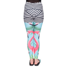 Load image into Gallery viewer, Flamingo Palm Leaves Printing High Waist Women Leggings
