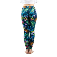 Load image into Gallery viewer, Green Floral Leaf Flower Printing High Waist Women Leggings