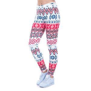 New African Aztec Printing High Waist Women Leggings