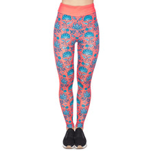 Load image into Gallery viewer, Red Roses Ornament Printing High Waist Women Leggings