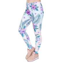 Load image into Gallery viewer, Tropical Pink Flowers Printing High Waist Women Leggings