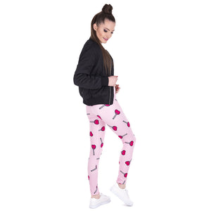 Love Lollipop Printing High Waist Women Leggings