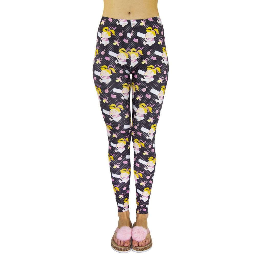 Baby Girl Printing High Waist Women Leggings