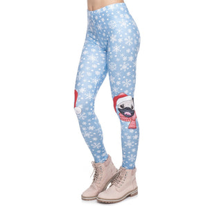 Pug On Knees Printing High Waist Women Leggings