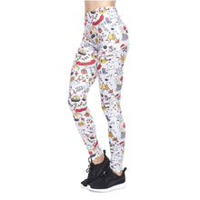 Load image into Gallery viewer, Christmas Goodle Printing High Waist Women Leggings