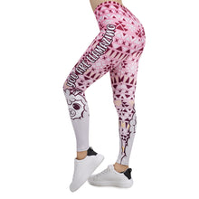 Load image into Gallery viewer, Pink Geometric llamazing Printing High Waist Women Leggings