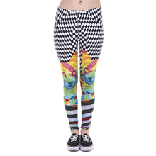 Load image into Gallery viewer, Colorful Hypnotic Cat Printing High Waist Women Leggings