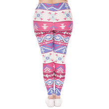 Load image into Gallery viewer, Boho Pink Printing Plus Size Women Leggings
