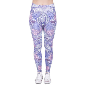 Aztec Jungle 3D Printing High Waist Women Leggings