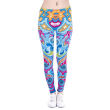 Load image into Gallery viewer, Seaflowers Printing Cats Printing High Waist Women Leggings