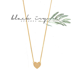 Dainty Heart Necklace in Gold