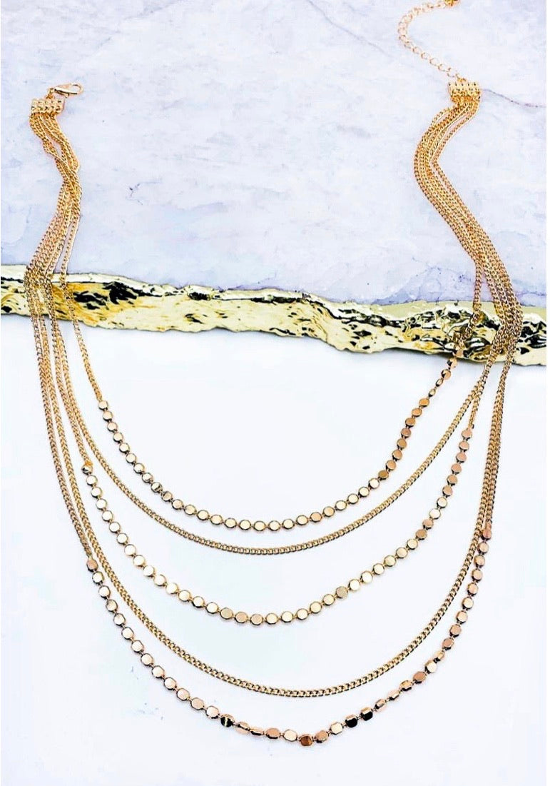 Meg Layered Necklace in Gold