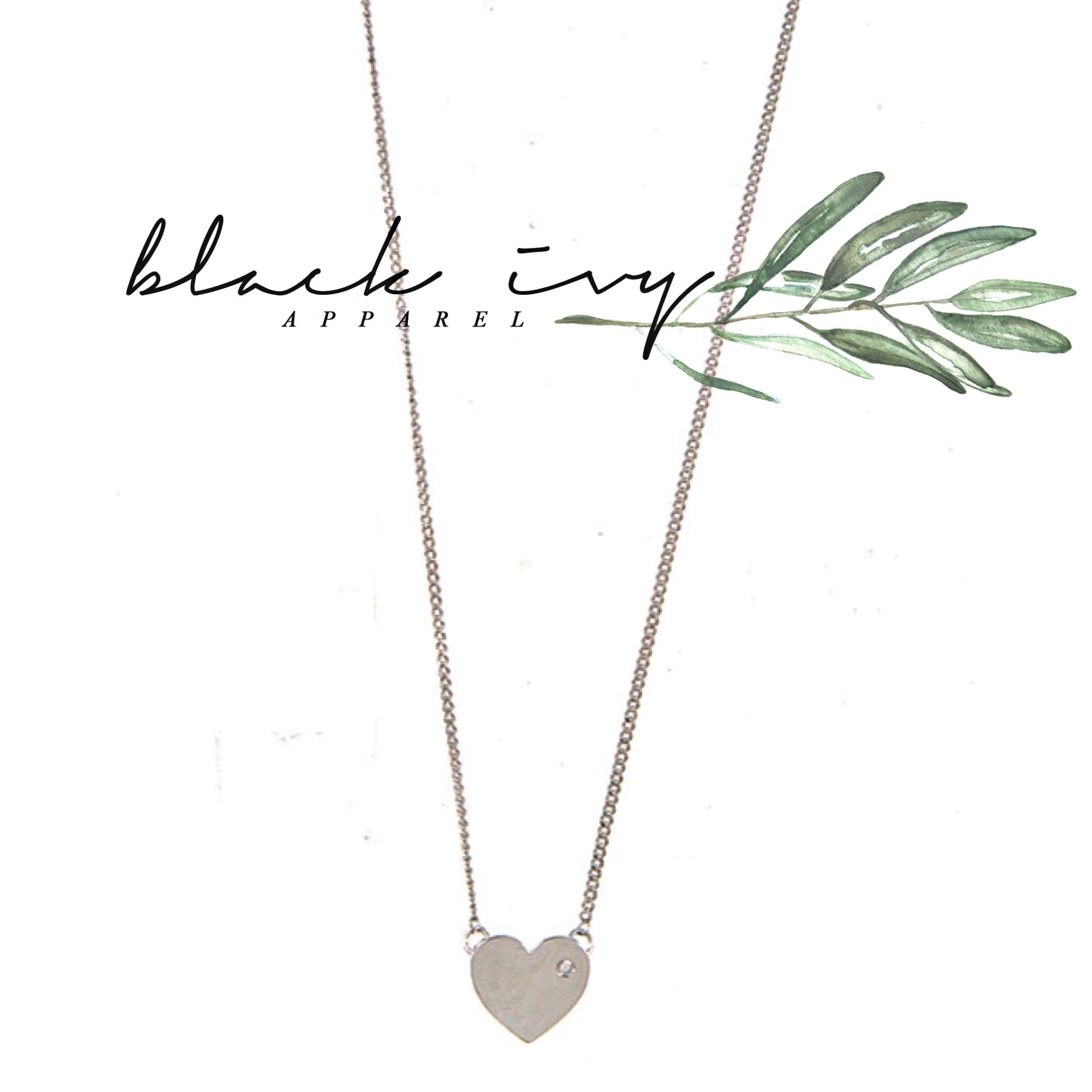 Dainty Heart Necklace in Silver