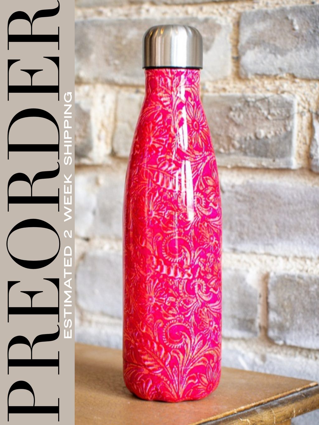 Fuchsia Stainless Water Bottle