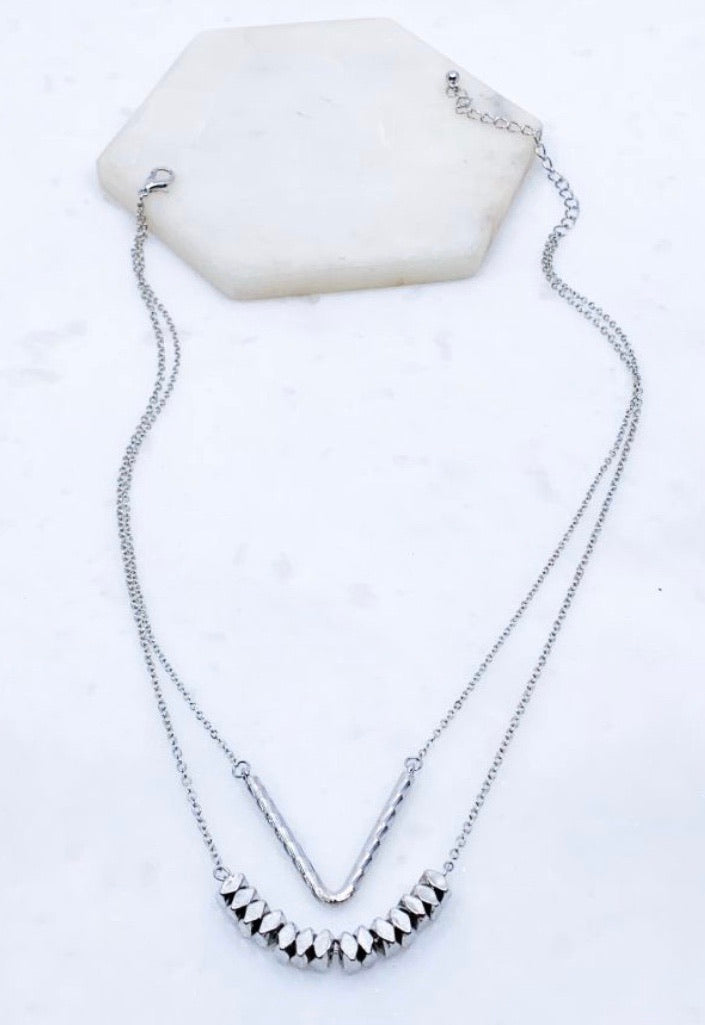 Lee Necklace in Silver