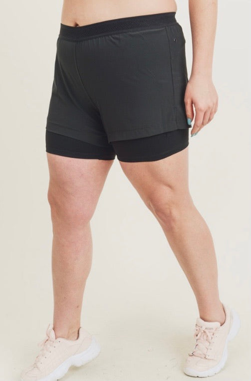 Hybrid Lined Active Shorts