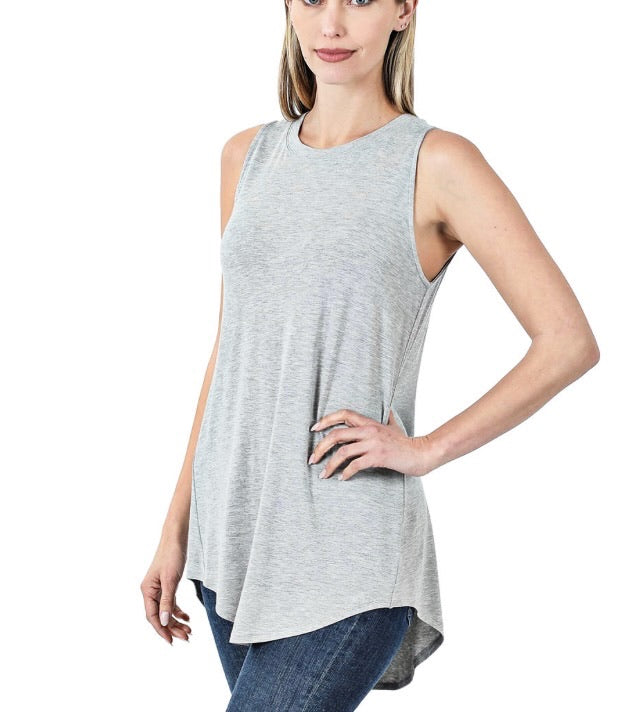 Kennedy Tank in Heather Grey