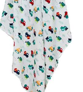 VROOM MUSLIN SWADDLE BLANKET