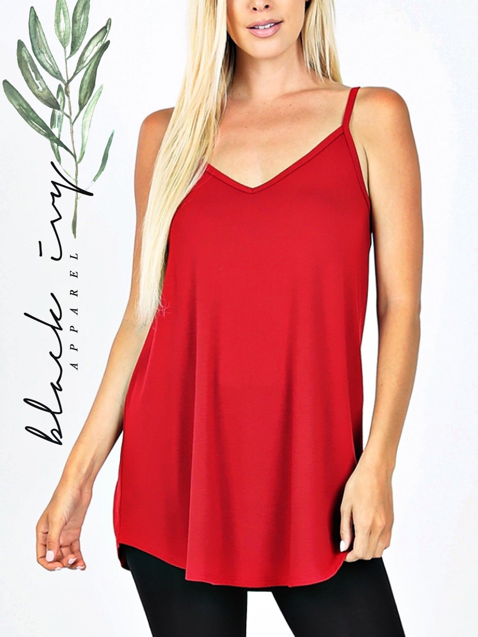 Ruby Red Reversible Cami