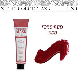 Nutri Color Mask 4 in 1 - Fire Red .600 - 120 ml DESIGN LOOK - Vip Coiffeur