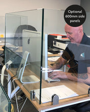 Load image into Gallery viewer, Glass Sneeze Guard 1000mm x 600mm: 10mm toughened glass