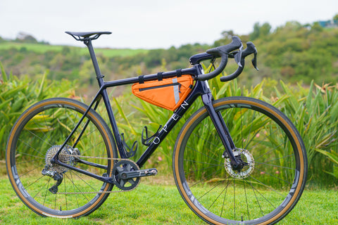 Open UPPER Cycles Gravel and Road Bike with Lead Out! Frame Bag