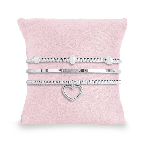 Occasion Gift Box - MARVELLOUS MUM - 3 silver stacking bracelets