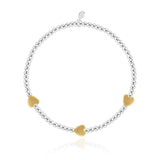 Occasion Gift Box - Friendship - x3 Stacking Bracelets - Gold and Silver - 17.5cm Adjustable