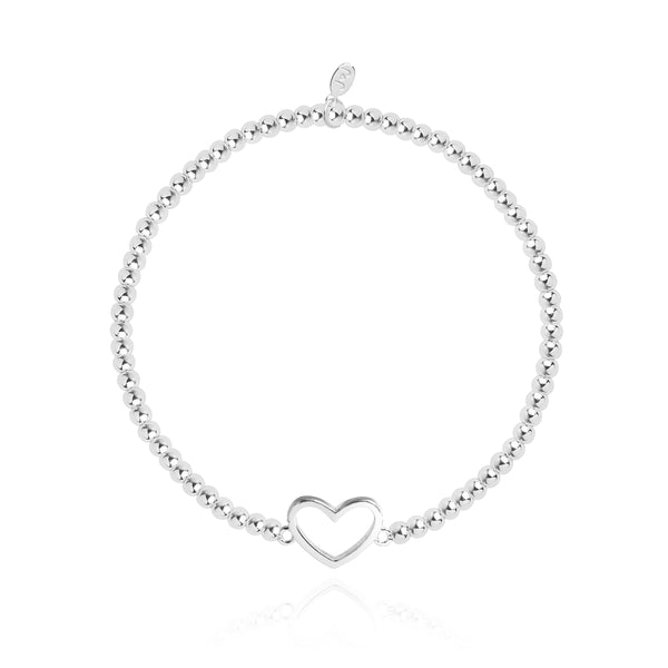 Christmas Cracker - Heart - Silver - 17.5cm stretch