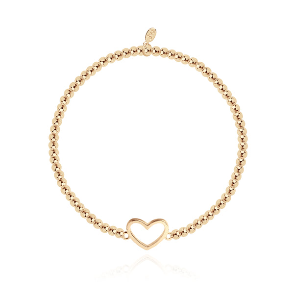 Christmas Cracker - Heart - Gold - 17.5cm stretch
